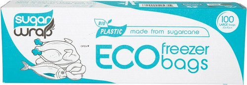 Sugarwrap Eco Freezer Bags Made from Sugarcane - Large x100