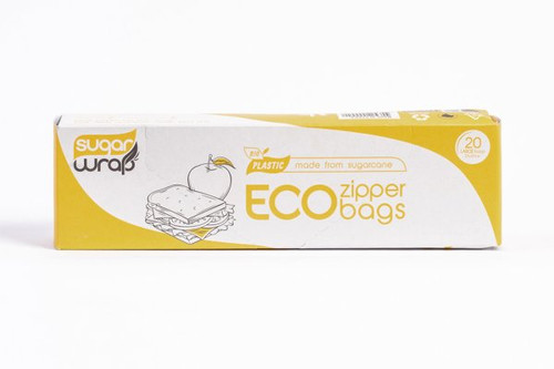 Sugarwrap Eco Zipper Bags Made from Sugarcane Large x 20