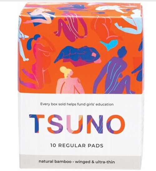 Tsuno Natural Bamboo Pads Regular (Winged & Ultra-Thin) x10