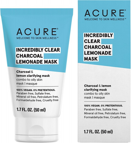 Acure Incredibly Clear Charcoal Lemonade Mask 50ml
