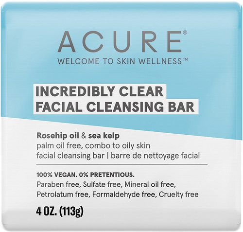 Acure Incredibly Clear Facial Cleansing Bar 113g