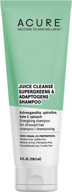 Acure Juice Cleanse S/Greens & Adaptogens Shampoo 236ml