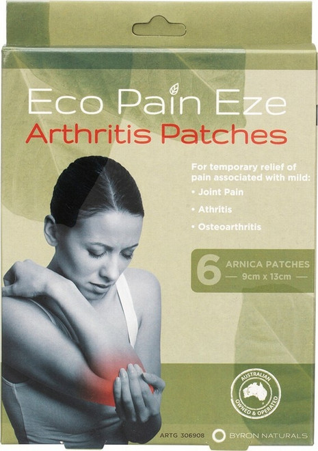 Byron Naturals Eco Pain Eze Arthritis Arnica Patches x6
