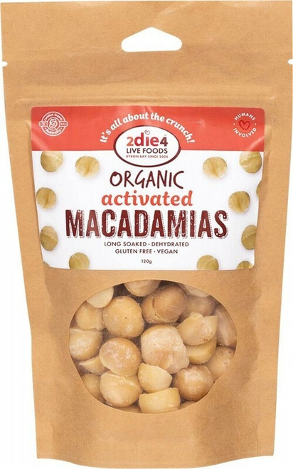 2DIE4 Live Foods Organic Activated Macadamias 120g