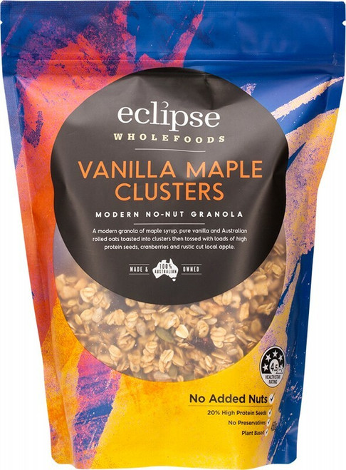 Eclipse Wholefoods Modern No-Nut Granola Vanilla Maple Clusters 450g