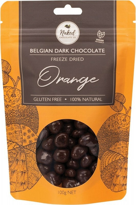 Naked Chocolate Co. Freeze Dried Orange Dark Chocolate 100g