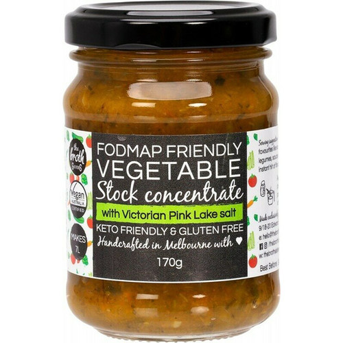 The Broth Sisters Stock Concentrate Vegetable Fodmap Friendly 170g