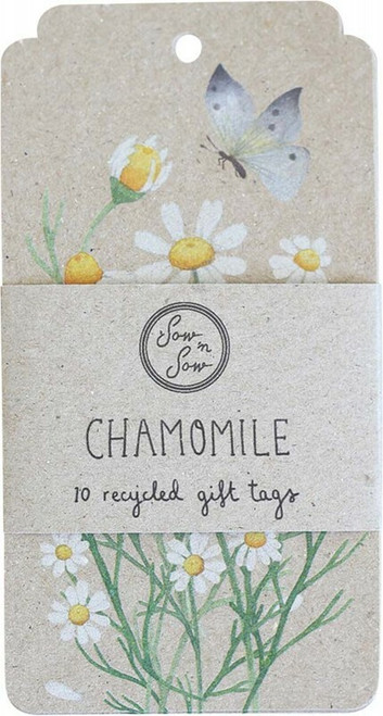 SOW 'N SOW Recycled Gift Tags 10 Pack Chamomile x 10