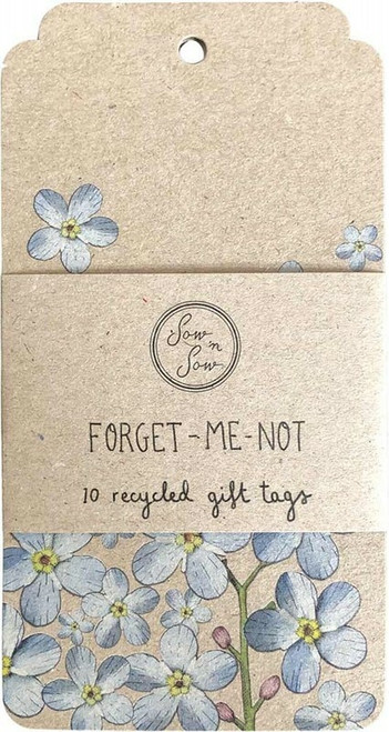 SOW 'N SOW Recycled Gift Tags 10 Pack Forget-Me-Not x10