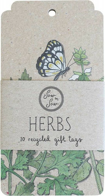 SOW 'N SOW Recycled Gift Tags 10 Pack Herbs x10