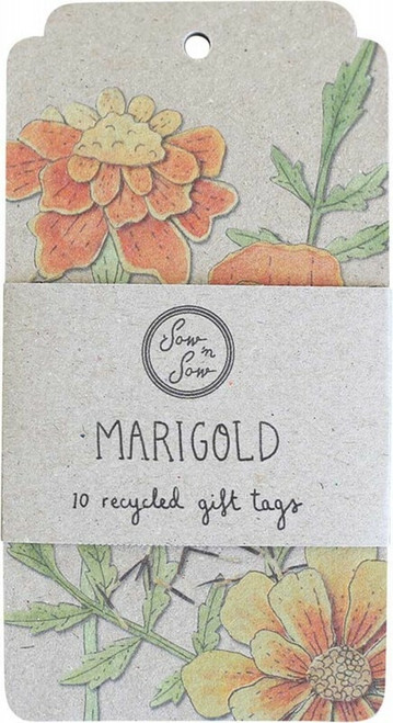 SOW 'N SOW Recycled Gift Tags 10 Pack Marigold x10