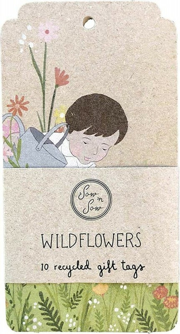 SOW 'N SOW Recycled Gift Tags 10 Pack Wildflowers x10