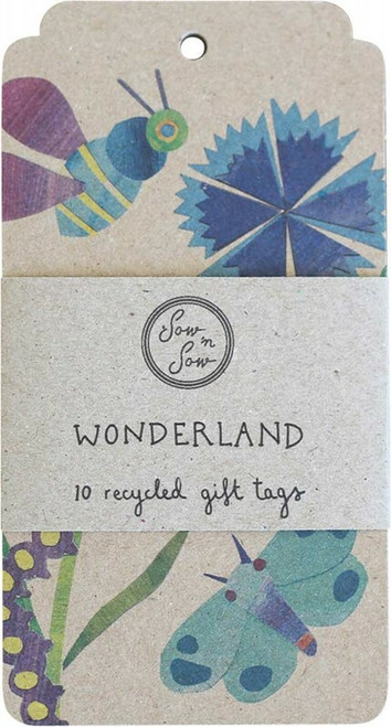 SOW 'N SOW Recycled Gift Tags 10 Pack Wonderland x10