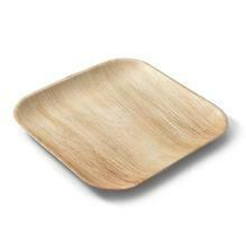 Eco Soulife Areca Nut Leaf Square Plates 6 inch with Rib 5pc