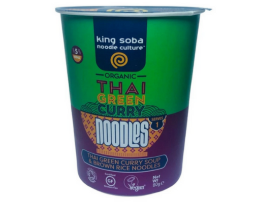 King Soba Organic Thai Green Curry Noodle Cup