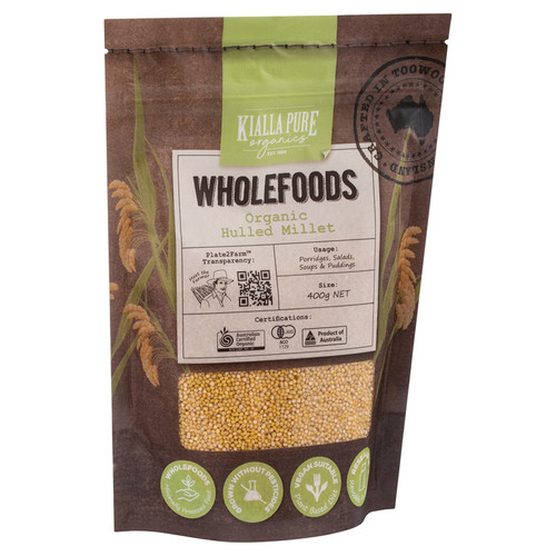 Kialla Pure Foods Organic Hulled Millet 400g