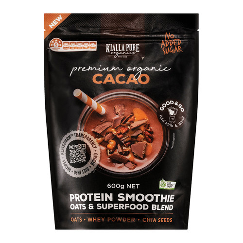 Kialla Pure Foods Organic Protein Smoothie Cacao 600g