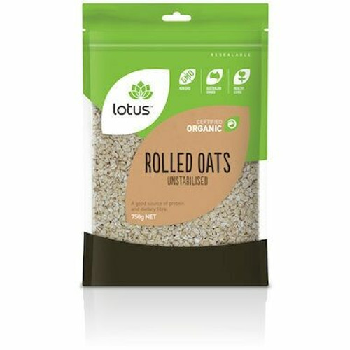 Lotus Oats Rolled Unstabilised Organic 750g