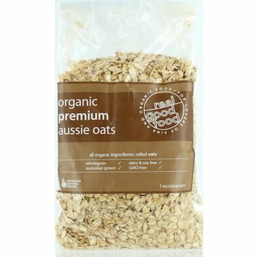 Oats Rolled Premium Aussie Organic 1kg Real Good Food