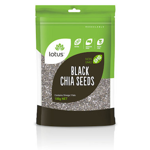 Lotus Chia Seeds Black Bag 500g