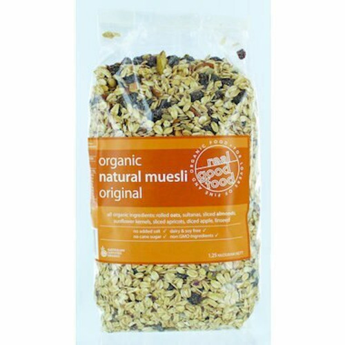 Cereal W/F Natural Organic (bag) 1.25kg Real Good Food