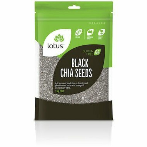 Lotus Chia Seeds Black (Bag) 1kg
