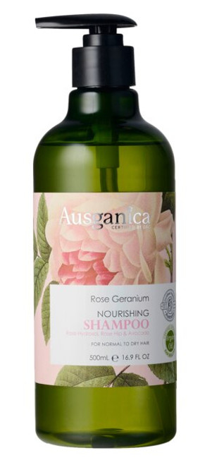 Rose Geranium Nourishing Shampoo 500ml by Ausganica