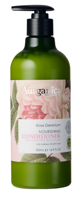 Rose Geranium Nourishing Conditioner 500ml by Ausganica