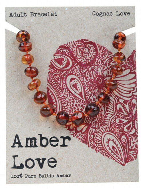 Adult's Bracelet Cognac Love 20cm By Amber Love