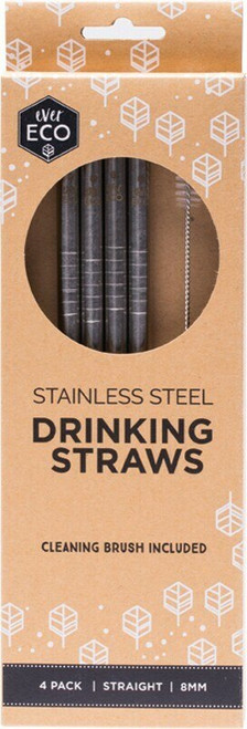 Primal Health Products Stainless Steel Straws Straight 8Mm.