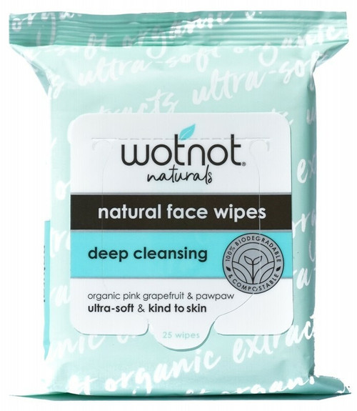 Wotnot Purifying Facial Wipes Oily/Combination Skin 25 Pack