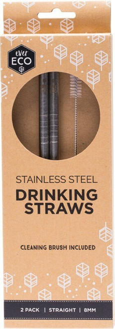 Primal Health Products Stainless Steel Straws Straight 8Mm