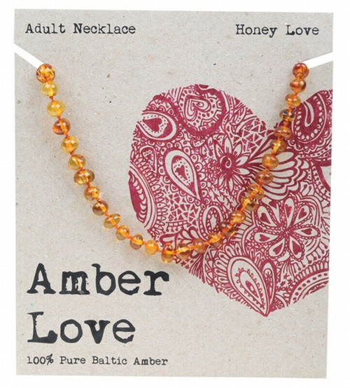 Amber Love Adult's Necklace Honey Love 46cm