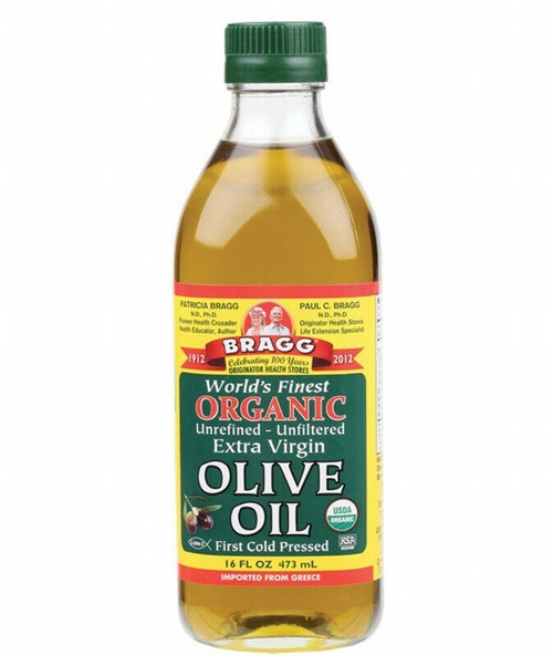 Bragg Olive Oil (Extra Virgin) Unrefined & Unfiltered 473ml