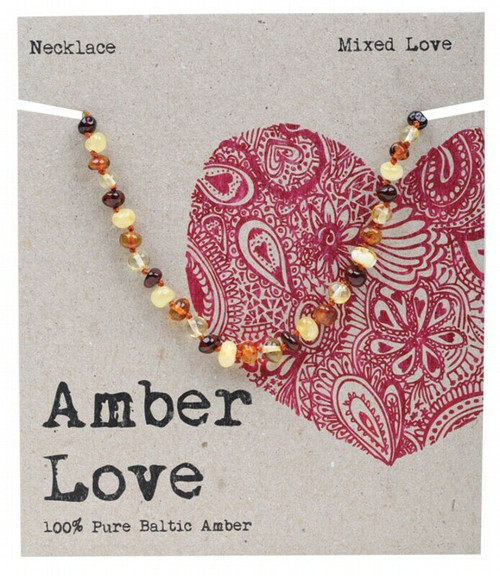 Multi Amber Necklace 33Cm By Amber Love