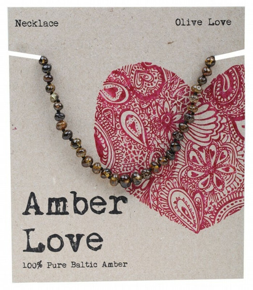 Olive Amber Necklace 33Cm By Amber Love