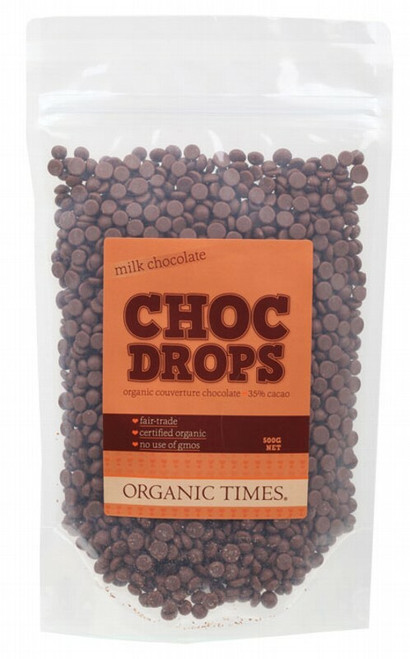 Organic Times Milk Chocolate Couvertre Drops
