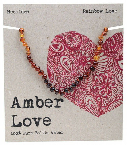 Rainbow Amber Necklace 33Cm By Amber Love