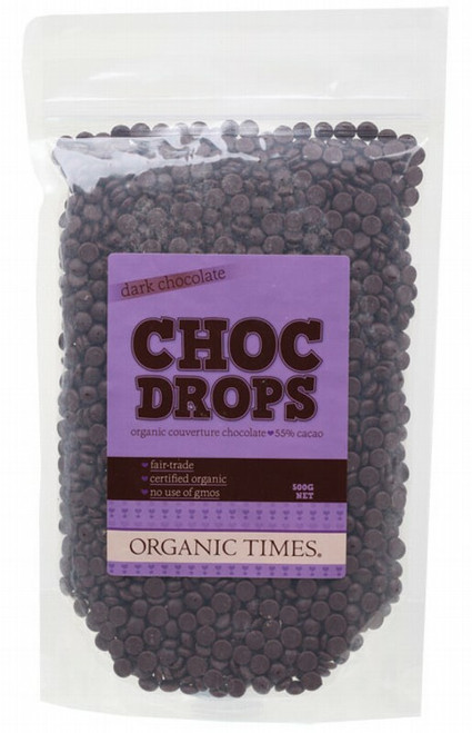 Organic Times Dark Chocolate Couvertre Drops