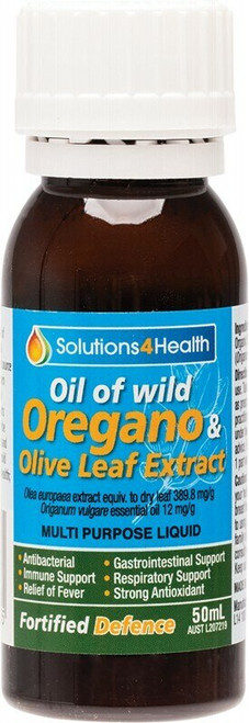 Solutions 4 Health Fortified Defence (Olive Leaf Extract) 50ml