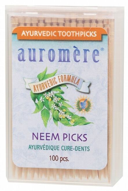 Auromere Neem Picks 100 Picks