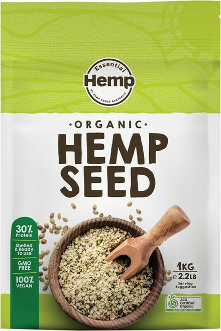 Essential Hemp Organic Hulled Hemp Seed 1kg