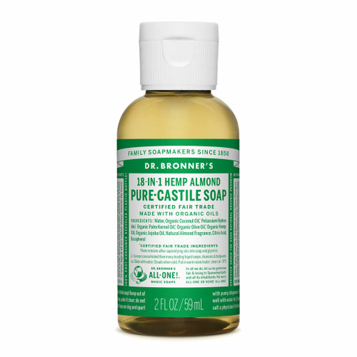 Dr Bronner's Almond Organic Liquid Soap 59ml