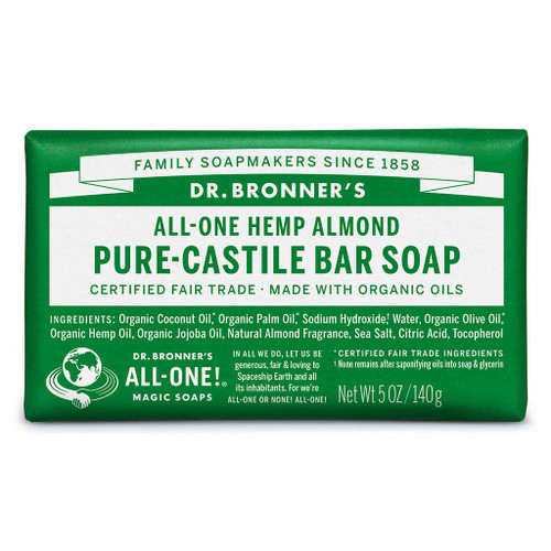 Dr. Bronner's Almond Organic Bar Soap 140g