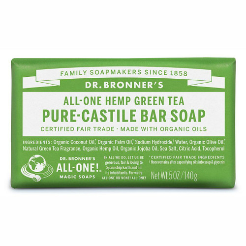 Dr. Bronner's Green Tea Organic Bar Soap 140gr