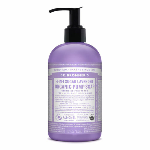 Lavender Organic Hand and Body Soap 355ml by Dr. Bronner's