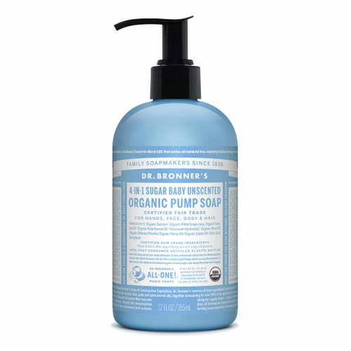 Dr. Bronner's Unscented Baby-Mild Organic Hand and Body Soap 355ml
