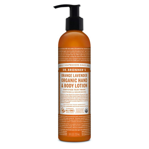Orange Lavender Organic Lotion 236ml By Dr. Bronner's