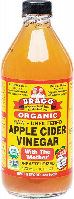 BRAGG Apple Cider Vinegar Unfiltered & Contains The Mother 473ml