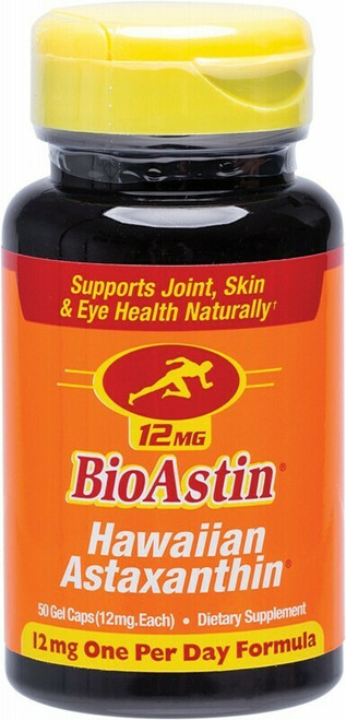 BIOASTIN Hawaiian Astaxanthin Gel Caps (12mg) x50
